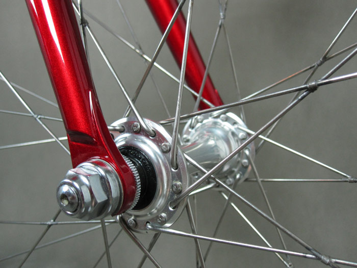 32 spoike wheel with tied and soldered spokes